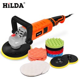 Painted floors online shopping - HILDA W Car Polisher Variable Speed rpm Car Paint Care Tool Polishing Machine Sander V M14 Electric Floor Polisher