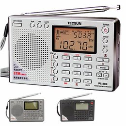 radio portable mw lw sw Australia - TECSUN PL-380 DSP PLL FM MW SW LW Digital Stereo Radio World-Band Receiver New 7 Tuning Mode Selectable Silver Gray Black
