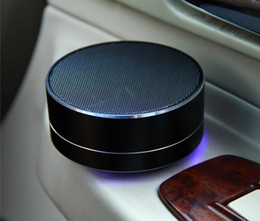 $enCountryForm.capitalKeyWord Australia - Mini Wireless Portable Bluetooth Speaker Modern Aluminum Alloy Cylinder Speakers Subwoofers TF Card Mini wireless Bluetooth Speakers A10