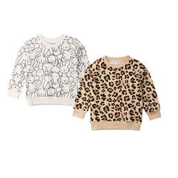 $enCountryForm.capitalKeyWord Australia - 2019 Spring Easter Kids Baby Girl Boy Bunny Long Sleeves Leopard Print T-shirt Sweatshirts Jacket Coat Autumn Clothing
