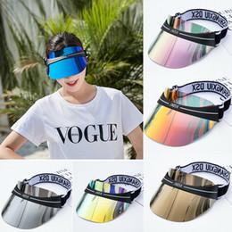 Mode pare-soleil Chapeau pour hommes et femmes Protection UV solaire PAC Transparent vide Top Hat été unisexe Sun en Solde