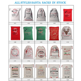 santa sacks large Australia - 2020 New Year Gift Santa Sacks Personalized Large Santa Claus Bag Custom Christmas Canvas Gift Bags Drawstring Cotton Santa Luvy for Kids