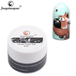 Paint Art 3d NZ - nail designs white tip Fengshangmei 8g Painting Color Easy Soak Off Arts Nails Design Cover Gel Drawing 3D Sculpture Gel Varnish