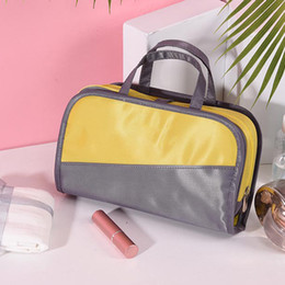Makeup carry case online shopping - Casual Cosmetic Case Travel Storage Inner Visible Carrying Handbag Small Simple Large Capacity Multifunctional Wash Makeup Bag