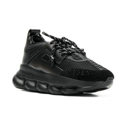 Chinese  New CHAIN REACTION Love Sneaker Women Men Yellow Triple Black ght Weight Chain Linked Designer Fashion Luxury Casual Shoes with Dust Bag Box manufacturers