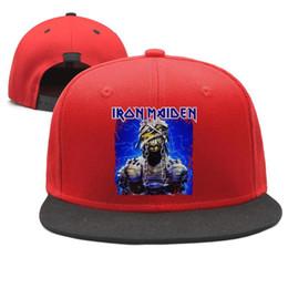 $enCountryForm.capitalKeyWord Australia - Iron Maiden Mask Design Snapback Flatbrim Baseball Caps Hip-Hop Dad Hat Adjustable Summer