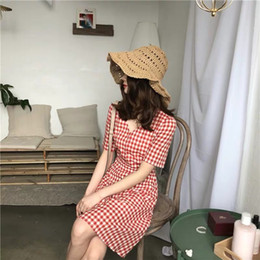 $enCountryForm.capitalKeyWord Australia - Lovely Dresses Student Chequered Summer Fresh A-shaped Skirt in Sweet Little Dresses slim young girl Academic Style