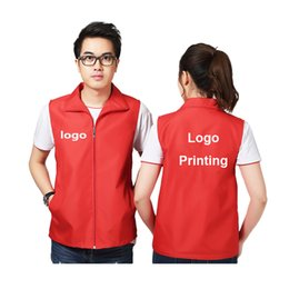 $enCountryForm.capitalKeyWord Australia - Customized DIY Logo Printing Company Work Wear Team Uniform Vest Jacket for Man Woman Cleaner Zipper Safety Costumes