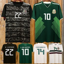 16adea7220a Gold Cup 2019 Camisetas Mexico kit 19 20 MEN WOMEN KIDS soccer jersey 2018  CHICHARITO LOZANO DOS SANTOS girl football shirt camisa de futbol