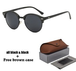 SunglaSSeS g15 online shopping - Brand designer Round sunglasses women men steampunk Sun glasses Half metal frame G15 uv400 lens with free brown case and accessories