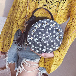 $enCountryForm.capitalKeyWord NZ - New All Matched Sling Shoulder Messenger Bag Tote For Women Female Chain Hand Bags Crossbody Mini Round Bag Lace Handbag Totes
