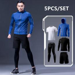 $enCountryForm.capitalKeyWord NZ - New Arrival Sports Suit Men's Running Sets Jogging Basketball Underwear Sportswear Gym Tights Running Tracksuit Training Clothes