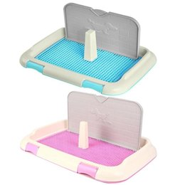 dog houses kennels accessories UK - Portable Dog Toilet Pet For Dogs Cat Puppy Litter Tray Training Column Urinal Bowl Pee Dog Houses Kennels Accessories