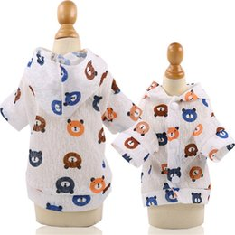 thin diaper Australia - Small Dog Rincoat Waterproof Sun Protection Clothing Summer New Thin Four Feet Raincoat Teddy Pet Dog Clothes for Dogs Sppplies