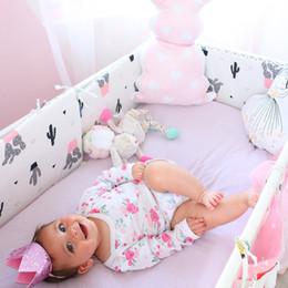 $enCountryForm.capitalKeyWord NZ - Bed Cotton Baby Protector Cartoon Bumpers In Crib For Newborns Multicolor Cot Bumper Length 120cm Q190530