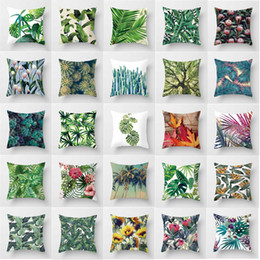 $enCountryForm.capitalKeyWord Australia - 45X45CM Pillow cover Trees and flowers Pillowcases Home Decorative Pillowcases For Living Room Have 32 Colors Available Pillow Case