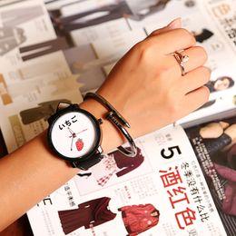 $enCountryForm.capitalKeyWord Australia - Flamingo Pattern Quartz Watch Leather Strap Metal Dial Unisex Watches Dress Accessories, Korea Trend Ulzzang Wind's Watch Belt F