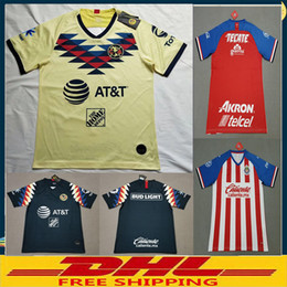 jersey soccer club Canada - DHL Free shipping 2019 2020 Club America soccer Jerseys Chivas Club Deportivo Guadalajara 19 20 soccer Jersey Size can be mixed batch