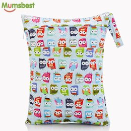 swim nappies Australia - [Mumsbest] 2019 New Wet Bag Washable Reusable Cloth diaper Nappies Bags Waterproof Swim Sport Travel Carry bag Big Size:40X30cm