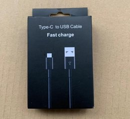 mobile phone charge box Canada - High Quality Type C USB Fast Charging Cable Black 1.2M Data Sync Charge Charging For Samsung Galaxy S9 S8 A5 A7 Mobile phone With Box