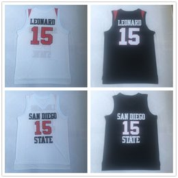 $enCountryForm.capitalKeyWord Australia - NCAA San Diego State Aztecs #15 Leonard College Basketball Jerseys Black White University Shirts #2 Kawhi Sport Outdoor T-shirt