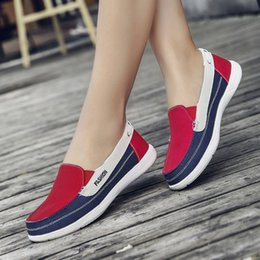 $enCountryForm.capitalKeyWord NZ - Women Flats Canvas Shoes Woman Loafers Ladies Shoes Mixed Colors Footwear Slip On Female Spring Summer Women Moccasins