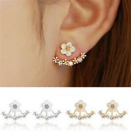 crystal for women Australia - Crystal Pierced Stud Earrings for Women Boucle d'oreille Femme 2020 Fashion Flower Gold Bijoux Jewelry Brincos Christmas Gifts