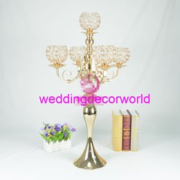 $enCountryForm.capitalKeyWord Australia - New style Metal Candle Holders Flower Vase Rack Candle Stick Wedding Table Centerpiece Event Road Lead Candle Stands decor690
