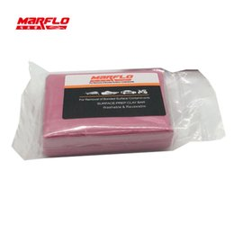 Car Detailing Clay Bar UK - Marflo Magic Clay Bar Light Cutting Grade Pink 200g Auto Car Paint Care Cleaning Detailing Washing King Before Car Styling