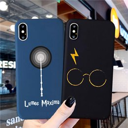 iphone case harry potter Canada - GYKZ Harries Potter Cartoon Phone Case For iPhone 11 Pro XR X XS MAX SE 2020 7 8 6 Plus Soft Silicone Shockproof Matte Cover Bag