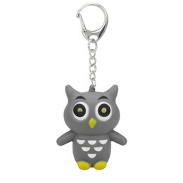 China New Fashion Cute Cartoon Owl With LED Light And Sound Keyfob Kids Toy Gift Keychain Women Phone Case Wallet Key cheap cartoon owl phone case suppliers