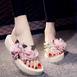 $enCountryForm.capitalKeyWord Australia - Summer Women's Slippers Bow Fabric Designer Flat Non-Slip Cute Slides Flip Flop Casual Sandal Female Tap Beach flip flops ZSQ7
