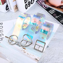 Hot Sale eam 2019 New Spring Metal Ring Split Joing Personality Transparent Color Mini-bag Long Belt Women Fashion Tide All-match Je440 Wide Selection;