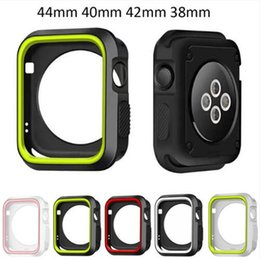 apple watch sport case NZ - Christmas Silicone Cover For apple Watch Case 42mm 38mm 40mm 44mm Sport Band Frame Rubber Soft Case for iwatch Series 4 3 2 1 Back Cover