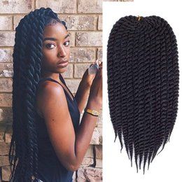 crochet pack NZ - Havana Twist Crochet Braiding Hair 12strands pack Synthetic Hair Weave Senegalese Twist 6packs Full Head Braid Hair
