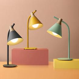 $enCountryForm.capitalKeyWord Australia - Nordic Simple Metal Wood Table Lamp Modern Desk lamp LED E27 Table Light for Study Bedroom Bookstore Hotel Home Lighting