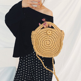$enCountryForm.capitalKeyWord Australia - bolso mujer marcas famosas Fashion Women Retro Straw Hand-Weaved totes Circle Large Beach bag Lock Crossbody Bag Handle Bags #15