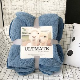 Wool Bedding Australia - Thick Double Wool Throw For Sofa Bed Winter Lamb Cashmere Blanket Super Soft Plush Plaid Blankets Home Textiles