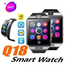 smart watch for woman sim card NZ - Q18 smart watch Women watches bluetooth smartwatch Wristwatch with Camera TF SIM Card Slot Pedometer Anti-lost for apple android phones