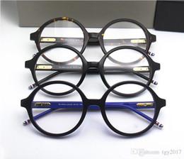 $enCountryForm.capitalKeyWord Australia - High-qualityTB500 Vintage big-round frame prescription glasses53-21-145 pure-plank frame fullset case OEM factory outlet