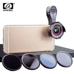 $enCountryForm.capitalKeyWord Australia - Apexel Phone Camera Lens Kit Hd Professional Wide Angle macro Lens With Grad Filter Cpl Nd Filter For Android Ios Smartphone J190704