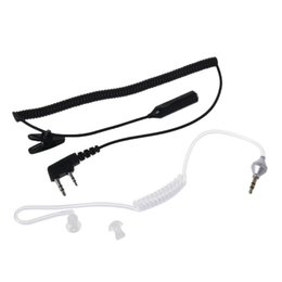 Wholesale 2 Pin PTT Mic Headset to mm Air Acoustic Tube Earpiece for Baofeng UV R s