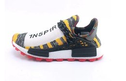 f31dad43c 2018 Wholesale Human Race trail Shoes Men Women Pharrell Williams Yellow noble  ink core Black Red white casual Shoes sneakers big size 5-13