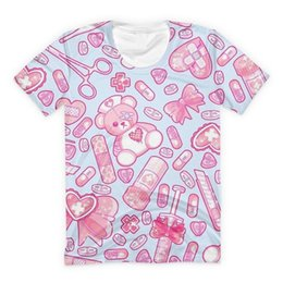 fe44ee7b Sickly Sweet T Shirt Kawaii Pink Bear Print Tee Women Summer Streetwear  2018 Power Up Anime Harajuku Girls Short Sleeve T-shirts Y190501301