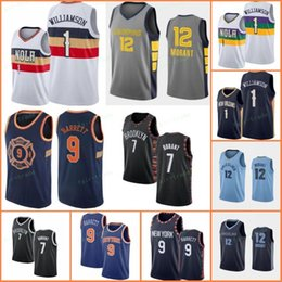 Discount sleeveless shirts mens xl - NCAA 2019 Zion 1 Williamson Ja 12 Morant R.J. RJ 9 Barrett Kevin 7 Durant Kyrie 11 Mens Irving Embroidery Basketball Jer