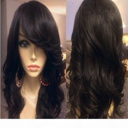 26 7a grade hair UK - 7A Grade Malaysian Body Wave Full Lace Human Hair Wigs with Side Bangs Glueless Full Lace Wigs Human Hair For Black Women
