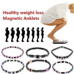 Colorful stone braCelets online shopping - 12 Types Weight Loss Magnet Anklet Colorful Stone Magnetic Therapy Bracelet Weight Loss Product Slimming Health Care jewelry