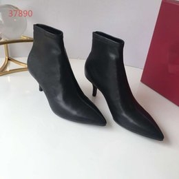 $enCountryForm.capitalKeyWord NZ - 2019ss Fashion Brand Designer Luxury Women Casual Shoes Genuine Leather Ankle Boots Martin Boots With High Heels Size 35-40