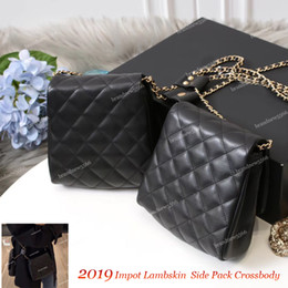 Wholesale Fashion Import Lambskin Side packs Pearl Chain Crossbody Hot Women s Shoulder Chain Bag Pearl Design Messenger Bags Handbags