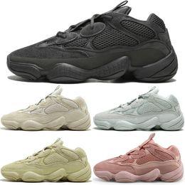 ac7700a05 New Kanye West 500 Desert Rat Blush 500s Salt Super Moon Yellow 3M Utility  Black mens running shoes for men women sports sneakers designer